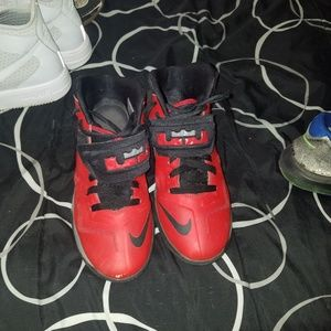 Red and Black Lebrons